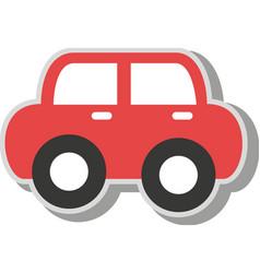 vintage car kid toy icon vector image vector image