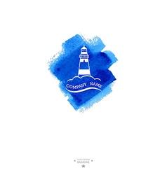 Yacht club logo Watercolor vector image vector image