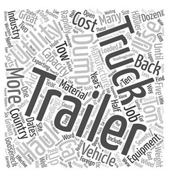 How Trailers Aid Truck Use text background vector image vector image