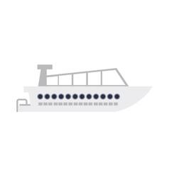 nautical boat icon vector image