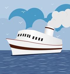 Ocean Liner Cruise Ship Boat at Sea 1 vector image vector image