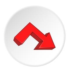 Right broken arrow icon cartoon style vector image