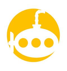 sea submarine isolated icon vector image vector image