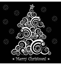 christmas abstract tree vector image vector image