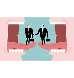 Negotiations and dialogue Transaction business vector image