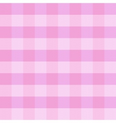 pink checkered cloth vector image vector image