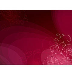 red background with decorative lines ans squiggle vector image vector image