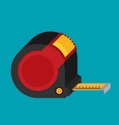construction roulette icon in flat style vector image vector image