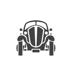 Old Car Isolated on white background icon vector image