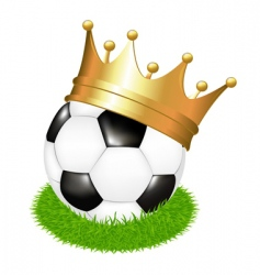 soccer ball with crown vector image