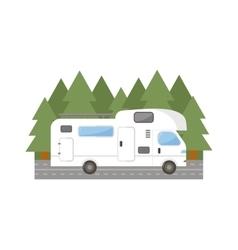 Travel trailer truck car vector image