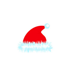 a christmas hat of color icon holiday day vector image
