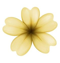 A light brown flower vector
