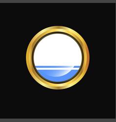 altai republic flag golden button vector image