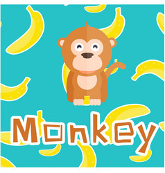 Animal monkey cartoon monkey background ima vector
