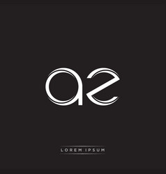 Az initial letter split lowercase logo modern vector