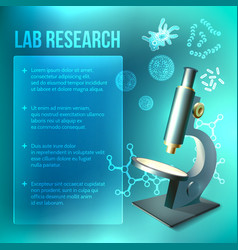 Bacteria and virus lab research vector