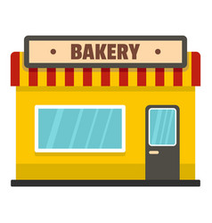 Bakery shop icon flat style vector
