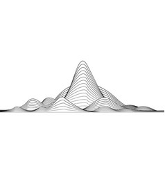 black and white line stripe mountain wave vector image