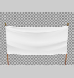 Blank template of white banner vector