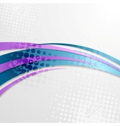 Blue purple grunge wavy background vector