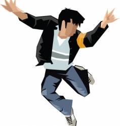 break dance vector image