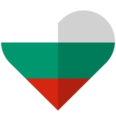 Bulgaria flat heart flag vector