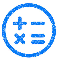 Calculator rounded grainy icon vector