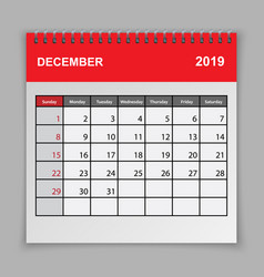 calendar planner design template vector image