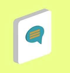 chat computer symbol vector image