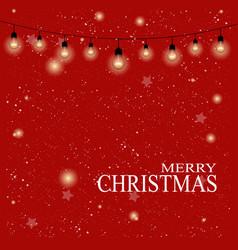 christmas background christmas lights merry vector image