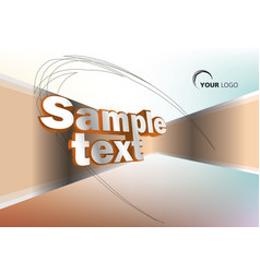 colorful background with 3d sample text in orange vector image