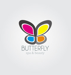 colorful butterfly logo vector image