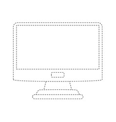 computer screen isolated vector image