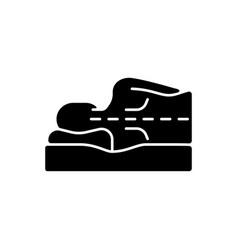 Correct sleeping position for spinal health black vector