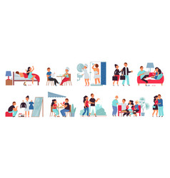 Couple life together romantic person daily vector