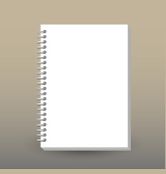 Cover of diary or notebook blank empty vector