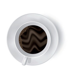 Cup of coffee on the white vector