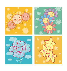 cute nature cartoons vector image