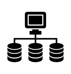 Dataset or Network Icon vector image