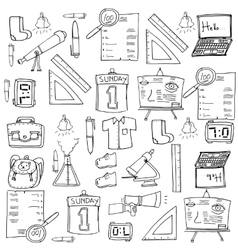 Doodle of education suppplies vector image