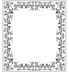 elegant frame with stylish vintage ornament vector image