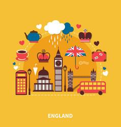 England landmarks design concept vector