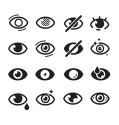 eyes icon optical care symbols eyesight vision vector image