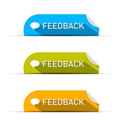 Feedback Icons Set Isolated on White Background vector image