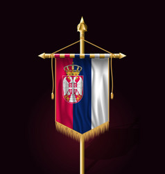 Flag of serbia festive vertical banner wall vector