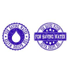 for saving water grunge stamp seals vector image