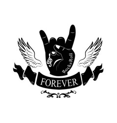 Forever hand gesture horns vector