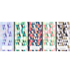 Geometric abstract pattern collection various vector
