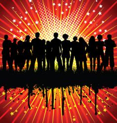 Grunge crowd vector
